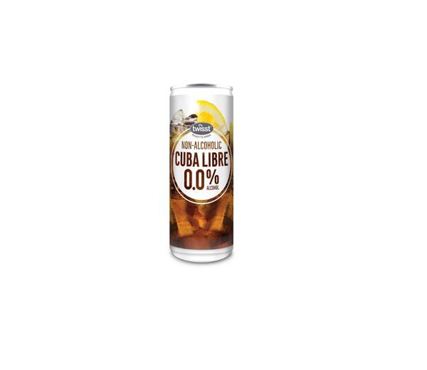 """უალკოჰოლო სასმელი """"Twisst"""" Cuba Libre 250 მლ"""