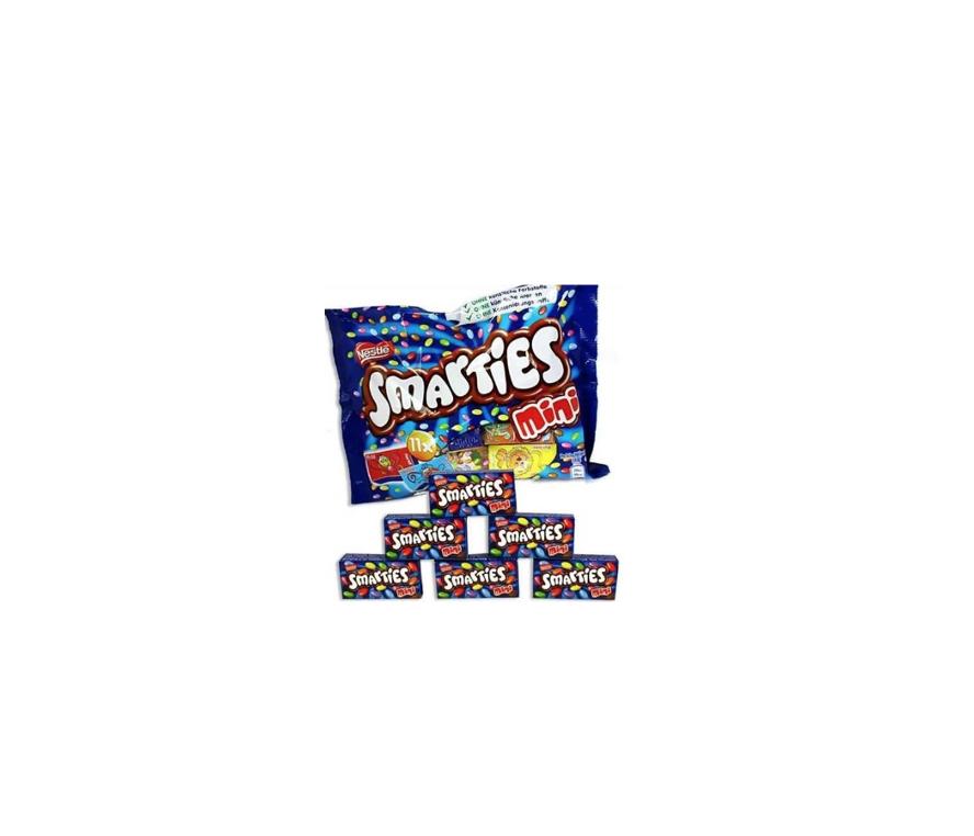 """დრაჟე ფერადი """"Nestle"""" Smarties 158გრ."""