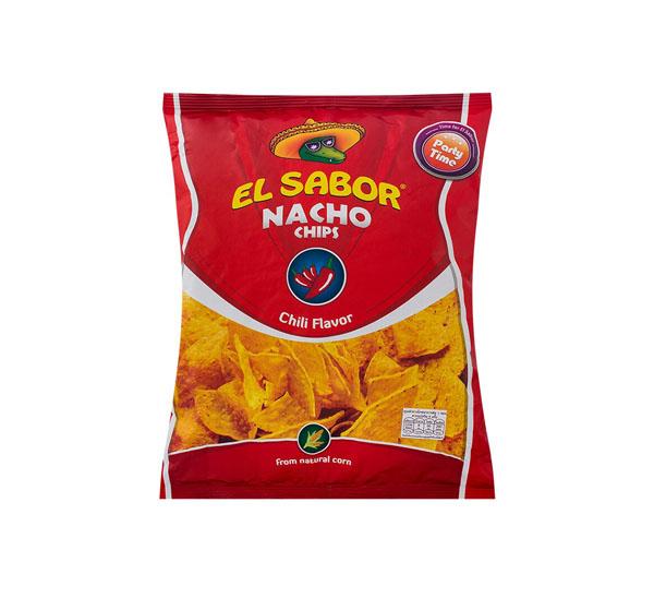 """ნაჩო ჩიფსი """"EL SABOR"""" ჩილი 100გრ."""